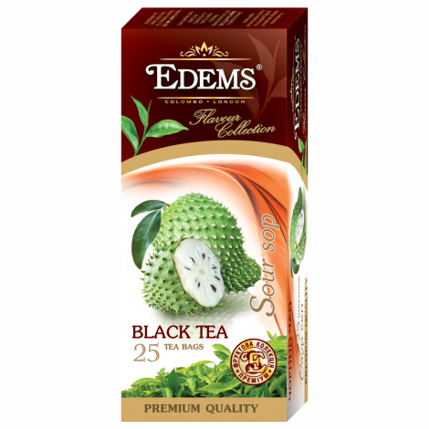 EDEMS SOURSOP FLAVORED BLACK TEA IN TEA BAGS
