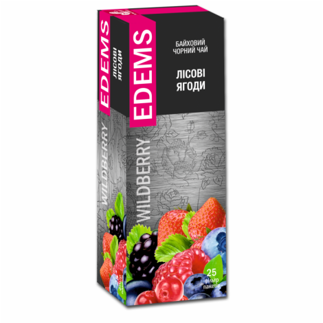 EDEMS WILDBERRY FLAVORED BLACK TEA IN TEA BAGS