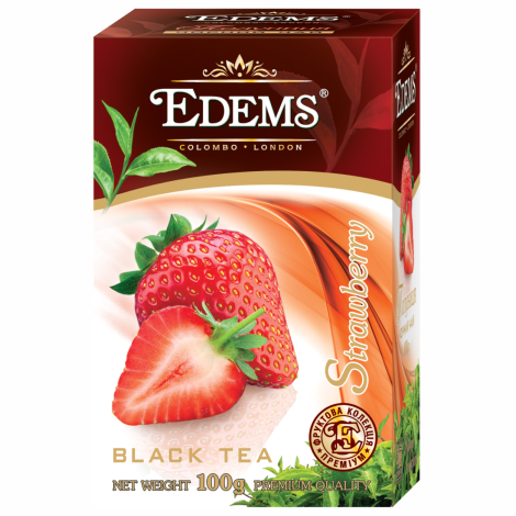 EDEMS STRAWBERRY FLAVORED BLACK TEA