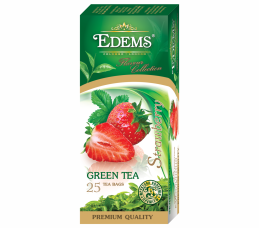 EDEMS STRAWBERRY FLAVORED GREEN TEA IN TEA BAGS