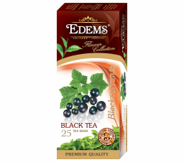 EDEMS BLACKCURRANT FLAVORED BLACK TEA IN TEA BAGS