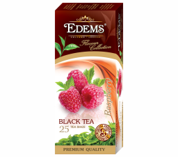 EDEMS RASPBERRY FLAVORED BLACK TEA IN TEA BAGS
