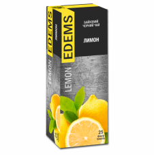 EDEMS LEMON FLAVORED BLACK TEA IN TEA BAGS
